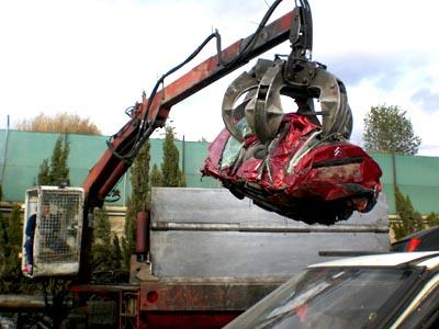 ¿En qué se convierte un coche reciclado?